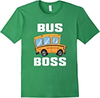 Funny Bus Boss School Bus Driver T-shirt Job Career Gift Forest Green