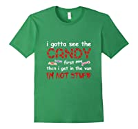 Halloween I Gotta See The Candy First Then I Get In The Van Tank Top Shirts Forest Green