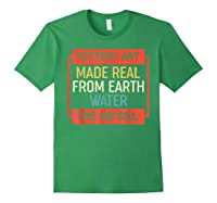 Vintage Pottery Art Made Real From Earth Water Fire Soul T Shirt Forest Green