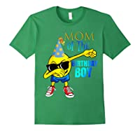 Cool Dancing Dabbing Emoji Mom Of Birthday Boy Party Shirts Forest Green