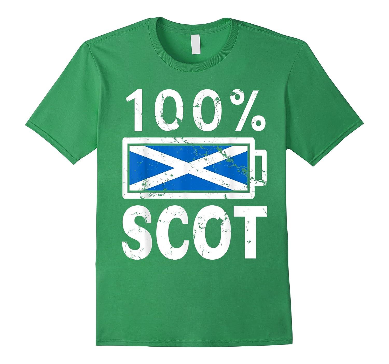 Scotland Flag T Shirt 100 Scot Battery Power Tee