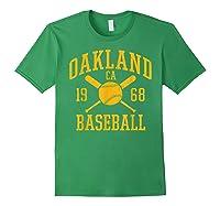 Oakland Baseball Vintage Oak Pride Retro Distressed Gift Shirts Forest Green