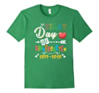 First Day Of Kindergarten Cute Gift For Teas Shirts Forest Green