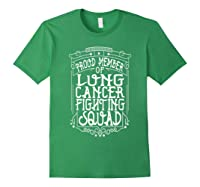 Fighting Squad Lung Cancer Awareness T-shirt Forest Green