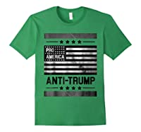 Pro America Anti Trump 4th Of July Impeach Trump T Shirt Forest Green