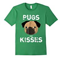 Pugs And Kisses Dog Animal Pet Funny Valentine S Day T Shirt Forest Green