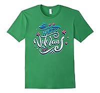 Happy Veteran's Day Patriot Military Memorial Gift Tee Premium T-shirt Forest Green