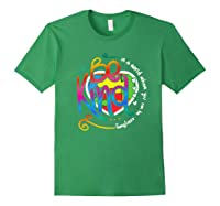In A World Where You Can Be Anything Be Kind Autism Premium T-shirt Forest Green