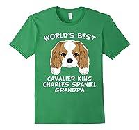 S World's Best Cavalier King Charles Spaniel Grandpa T-shirt Forest Green