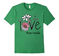 Mother S Day Gift Love Mom Mom Life Flower Tshirt Forest Green