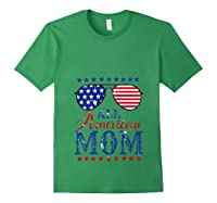 All American Mom 4th Of July Sunglasses Matching Family Tank Top Shirts Forest Green