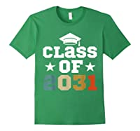 Vintage First Grade 2019 Class Of 2031 Apparel Grow With Me Shirts Forest Green