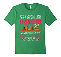 There Was A Librarian Who Loved Books And Dogs Book Lover T Shirt Forest Green