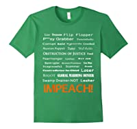 29 More Reasons To Impeach Potus Trump Political Activist T Shirt Forest Green