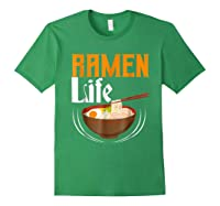 Ra Life Tasty Anime Noodle Bowl Shirts Forest Green