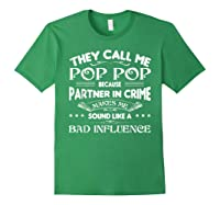 Funny Pop Pop Dad Shirt Valentine Fathers Day Christmas Gift Forest Green