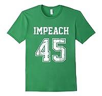 Impeach 45 Team Impeach Trump Vintage T Shirt Forest Green