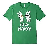 Anime Japanese Baka Rabbit Slap Manga T Shirt Gift Funny T Shirt Forest Green