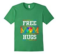 Free Mom Hugs Cute Flower Pride Lgbt Month 2019 Gift Shirts Forest Green