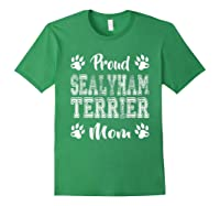 Proud Sealyham Terrier Dog Mom Paw Lovers Gifts Family Son T-shirt Forest Green