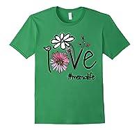 Mother S Day Gift Love Mema Life Flower Tshirt Forest Green