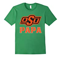 Oklahoma State Cow My Favorite Name - Papa T-shirt Forest Green