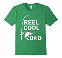 Reel Cool Dad Daddy Fathers Day Father Fishing Fisherman Ts Shirts Forest Green