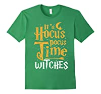 It's Hocus Pocus Time Witches Cute Halloween Gift Shirts Forest Green