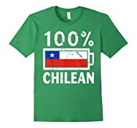 Chile Flag T Shirt 100 Chilean Battery Power Tee Forest Green