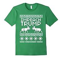 Impeach Trump Christmas T Shirt Anti Trump Holiday Wear Forest Green