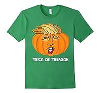 Trick Or Treason Anti Trump 2020 Halloween Pumpkin Trump Shirts Forest Green
