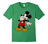 Disney Mickey Mouse Giggle T Shirt Forest Green