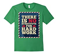 Happy Labor Day Hard Worker Cool Employee Gift Back Print T-shirt Forest Green
