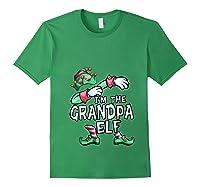 I'm The Grandpa Elf Dabbing Christmas Family Matching Gift T-shirt Forest Green