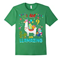 I Am 9 Years Old Zing Cute 9th Birthday Gift T-shirt Forest Green