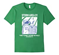 Storm Area 51 They Can't Stop Us All Shirts Forest Green