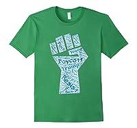 Resist Fist Anti Trump Boycott Impeach Trump T Shirt Forest Green