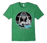 Saint Louis Missouri Route 66 Iconic Gateway Arch Souvenir T-shirt Forest Green
