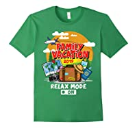 Family Vacation Trip 2019 Relax Mode On T Shirt Forest Green