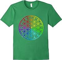 Blume Des Lebens Heilige Geometrie Spirituell Zen Yoga T-shirt Forest Green