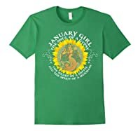 January Girl The Soul Of A Mermaid Tshirt Birthday Gifts Forest Green