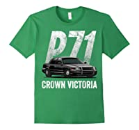 Police Car Crown Victoria P71 Shirt Forest Green