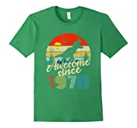 Dinosaur 41st Birthday Gifts Awesome 1978 41 Yrs Old Shirts Forest Green