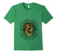 June Girl The Soul Of A Mermaid Tshirt Funny Gifts T Shirt Forest Green