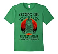 Scorpio Girl The Soul Of A Witch Tshirt Halloween Gift Forest Green