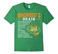 Funny Machinist Gifts Machinist S Brain Shirts Forest Green
