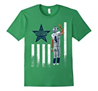 Cow Nation Of Legends American Flag For T Shirt Forest Green