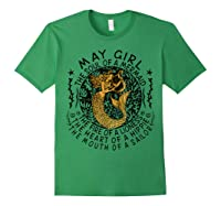 May Girl The Soul Of A Mermaid Tshirt Funny Gifts Wome T Shirt Forest Green