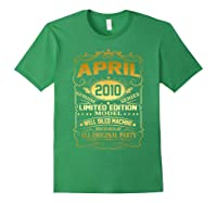 April 2010 Vintage 9th Birthday 9 Years Old Gift Shirt Forest Green