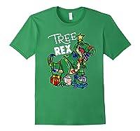 Tree Rex Dinosaur Christmas Gift T Rex Pajamas Xmas Premium T-shirt Forest Green